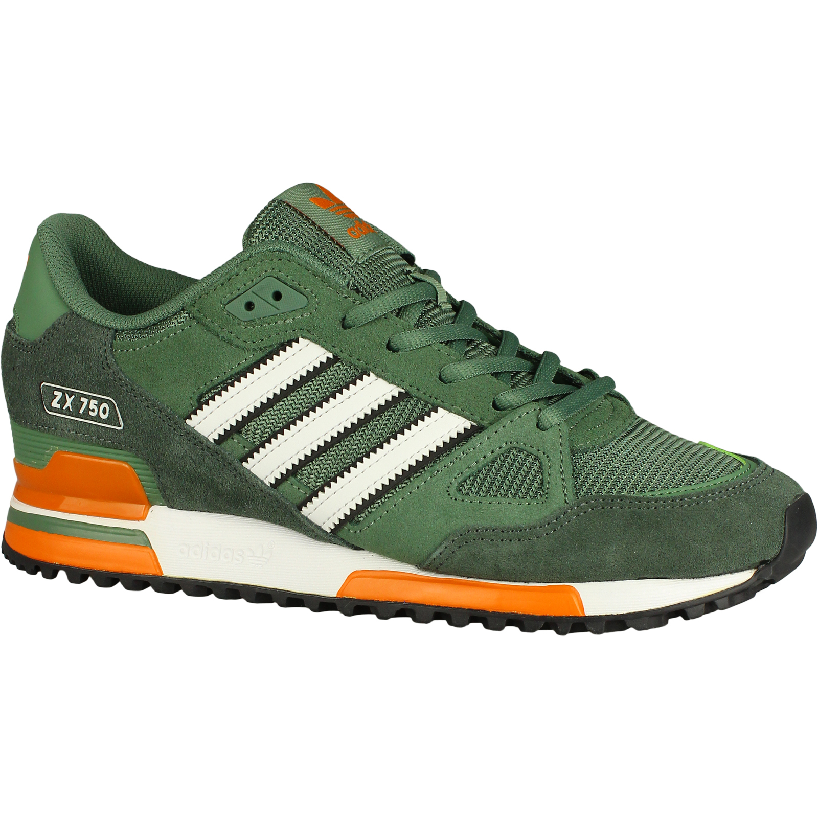 Sale Adidas Originals Zx 750 Couples Running Shoes BlackRedYellowGreen Zx 750 Green | Unique Designing